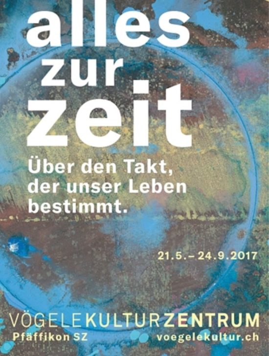 Invitation 'Alles zur Zeit' group show 2017, Vögelekulturzentrum, Pfäffikon, Switzerland