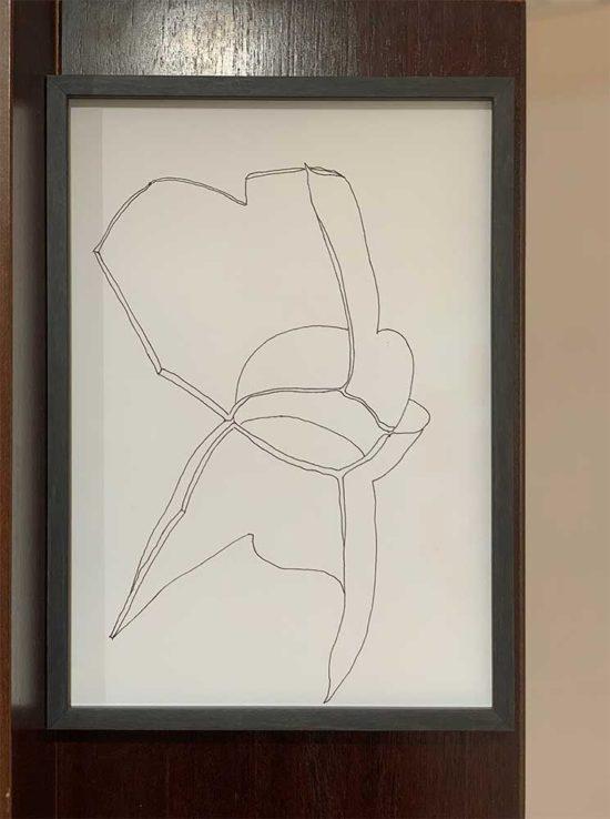 'Fragments 1b' 2013 at 'DAS KABINETT IM KABINETT' 2018, double show Clare Goodwin/Martina von Meyenburg, im kabinett visarte zuerich, Zurich, Switzerland