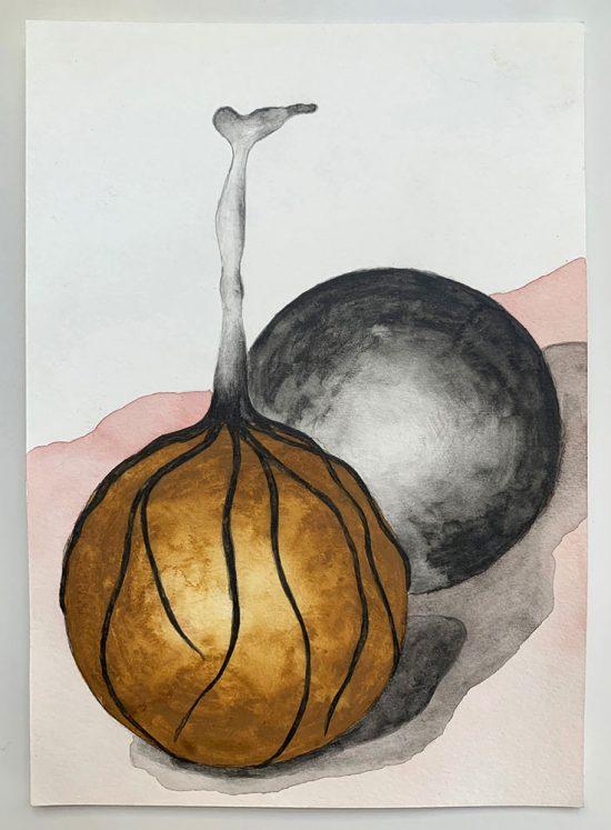 'Roots' 2020 (pencil, gouache pencil, watercolour, watercolour pencil on paper / 21.0 x 14.8 cm)
