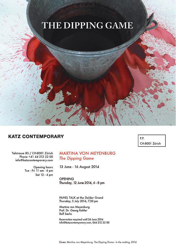 Invitation Card U0027The Dipping Gameu0027 Solo Exhibition 2014, KATZ CONTEMPORARY,  Zurich