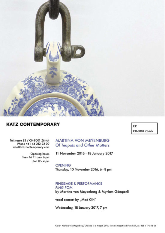 Invitation card 'Of Teapots and Other Matters'