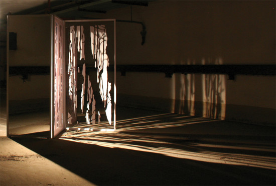 'Escaping reality' installation (with acoustics by Martin Andersson) 2010, Malzfabrik, District Kunst- und Kulturförderung, Berlin