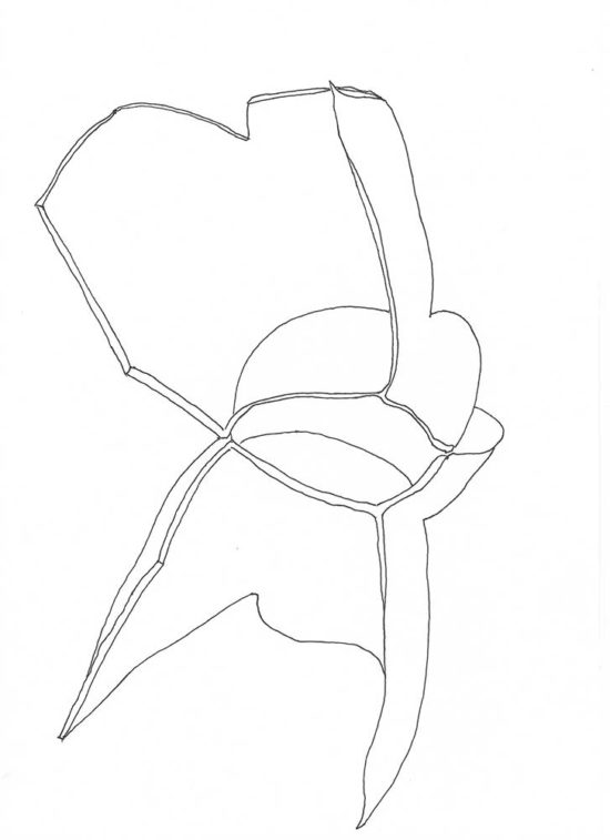 Fragments 1b' 2013 (ink pen on paper / 29.7×21 cm)
