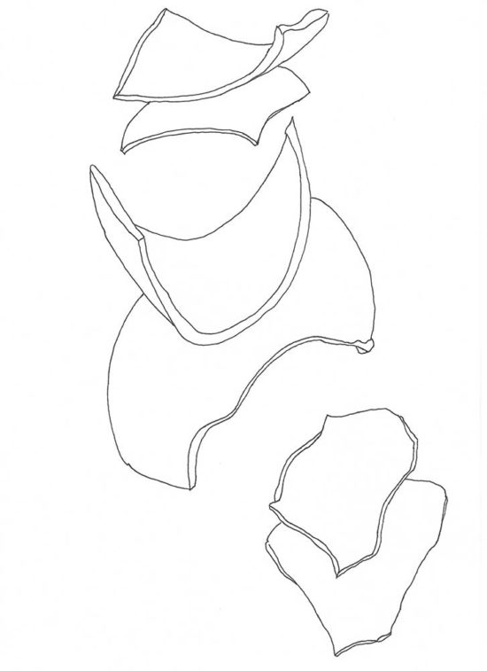 Fragments 3a' 2013 (ink pen on paper / 29.7×21 cm)
