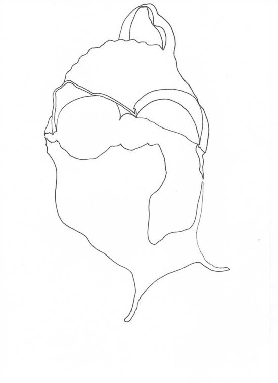 Fragments 5b' 2013 (ink pen on paper / 29.7×21 cm)
