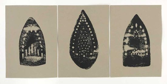 'Iron Prints I' (1-3) (acrylic paint on paper)