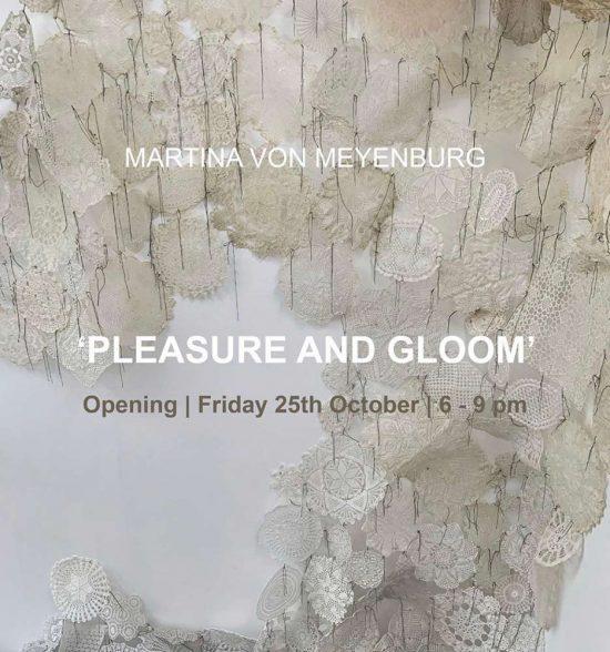 Invite 'PLEASURE AND GLOOM' 2019, solo show, FRÉDÉRIQUE HUTTER art concept, 1.Nearby Exhibition, Zurich